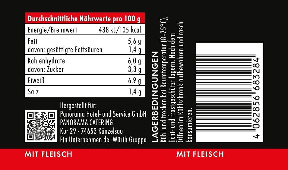 Lunch2Go - Gulaschsuppe mit 100 % Rindfleisch - Nährwerte