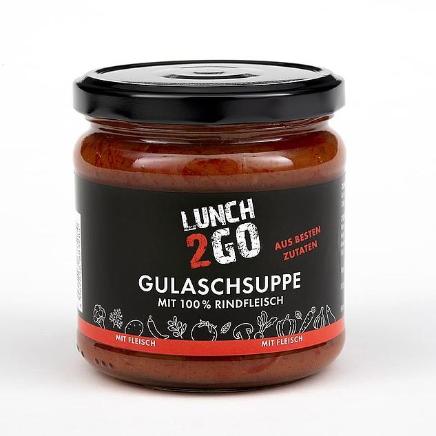 Lunch2Go - Gulaschsuppe mit 100 % Rindfleisch - Glas