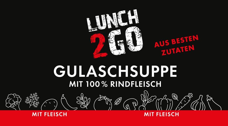 Lunch2Go - Gulaschsuppe mit 100 % Rindfleisch
